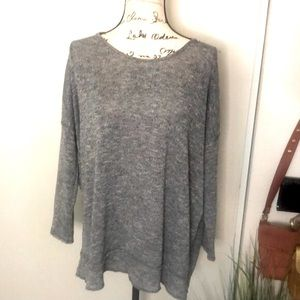 Lulu's Gray Twisted Knot Open Back Top